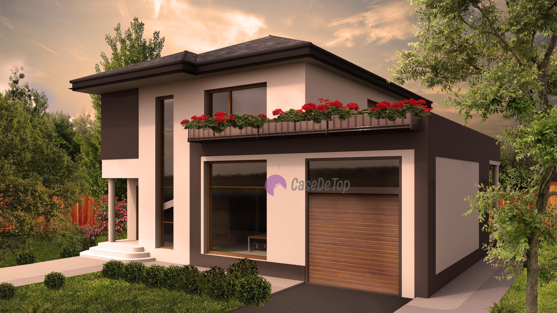 Proiecte Case Medii Etaje Model Mansarda Garaj
