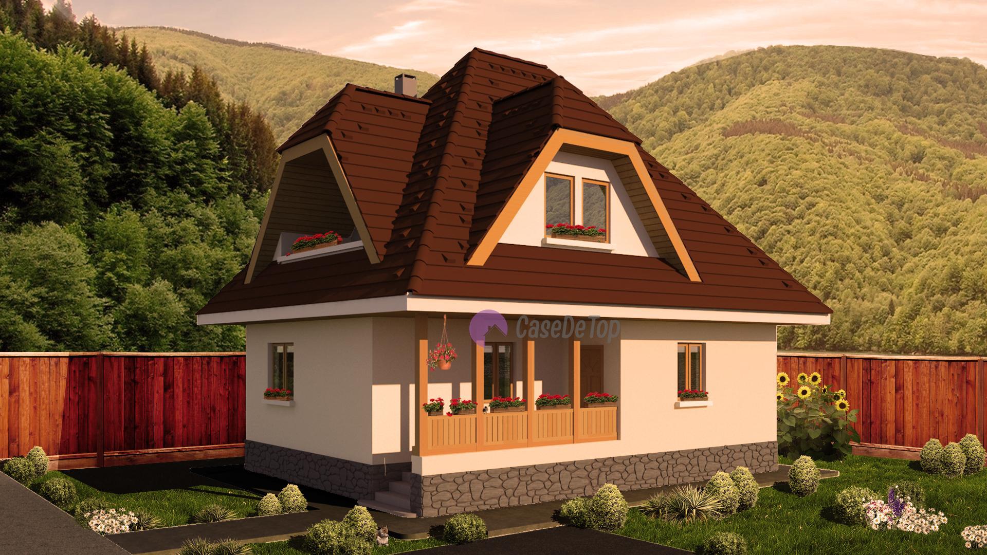 Model 91mp case de top for Proiecte case mici cu mansarda gratis